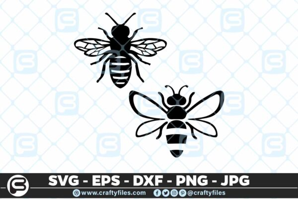 136 Bee insect SVG Cut file 5 4D Bee Insect, Cutting file, SVG, PNG, EPS For Cricut And Silhouette