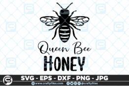 137 Queen bee honey SVg 5 4D Bundle of Bee SVG Happy Bee and Bee Kind SVG EPS