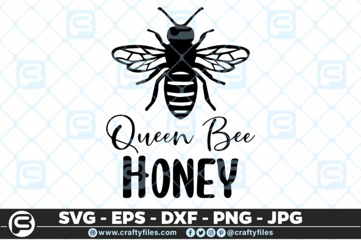 137 Queen bee honey SVg 5 4D Queen Bee Honey Insect, Cutting file, SVG, PNG, EPS