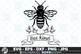 139 bee kind 5 4D Bundle of Bee SVG Happy Bee and Bee Kind SVG EPS