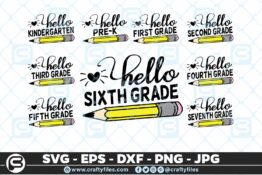 207 Back to school Hello Grade school Pen 5 4D The Mega Bundle! Back To School Bundle SVG, Exclusive Price