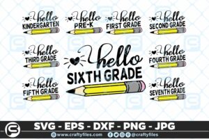 207 Back to school Hello Grade school Pen 5 4D The Mega Bundle! Back To School Bundle SVG, Exclusive Price