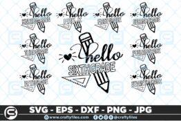 208 Back to school Hello Grade school 5 4D The Mega Bundle! Back To School Bundle SVG, Exclusive Price