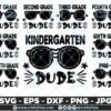 Bundle Of Back to school SVG Pre-K to 7th Grade Dude SVG Sunglasses