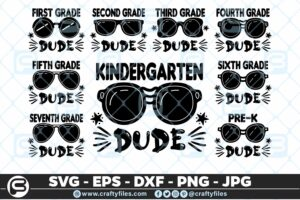 209 Back to school Grade Sunglasses Dude 5 4D The Mega Bundle! Back To School Bundle SVG, Exclusive Price