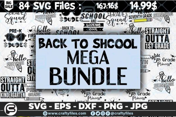 210 mega bundle back to shcool The Mega Bundle! Back To School Bundle SVG, Exclusive Price