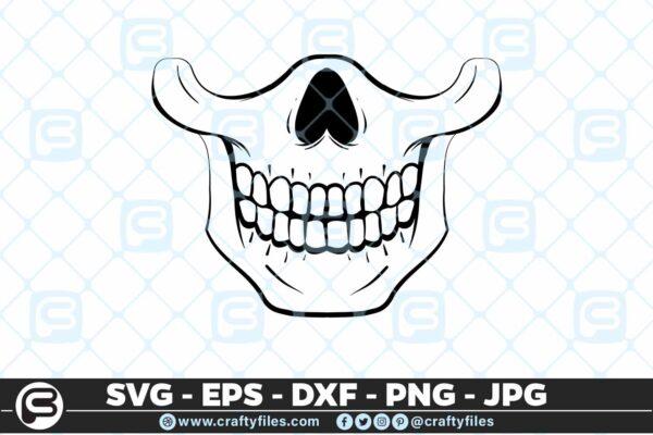 213 6 Skull mask 5 4D Mask Design SVG Head Skull PNG Cut File For Cricut