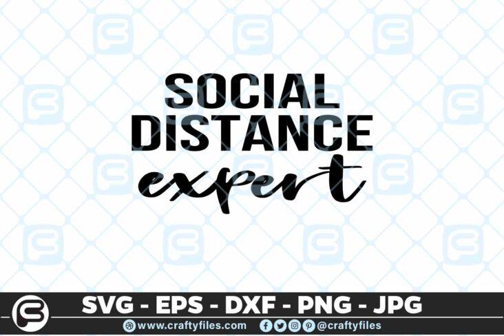 213 7 Social distance Expert 5 4D Mask Design SVG Social Distance Expert PNG Cut File For Cricut