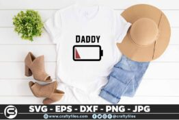 216 Daddy 5 4T Battery Power Family Matching t-Shirts SVG Mommy SVG Daddy SVG