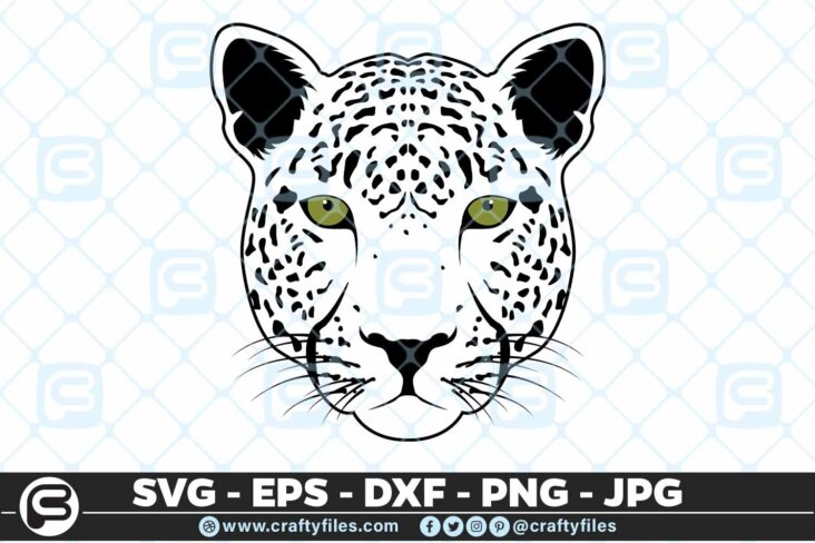 221 Jaguar face 5 4D Jaguar SVG Jaguar PNG Animals SVG Animals of Safari
