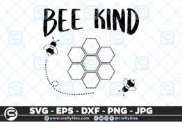 222 bee kind bee honey 5 4D Bundle of Bee SVG Happy Bee and Bee Kind SVG EPS