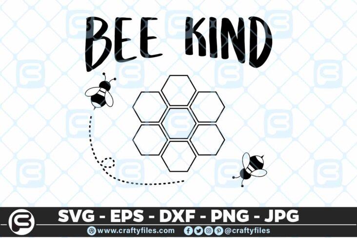 222 bee kind bee honey 5 4D Bee Kind Bee Honey SVG Be Kind SVG Honey SVG
