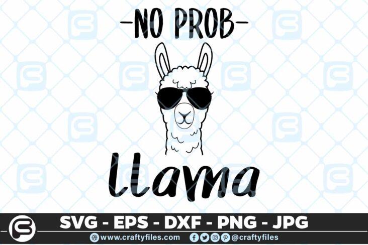 223 No prob llama 5 4D No Prob llama SVG Little Llama SVG Mama Llama SVG