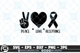 229 Peace love acceptance 3 2D Crafty Files | Home