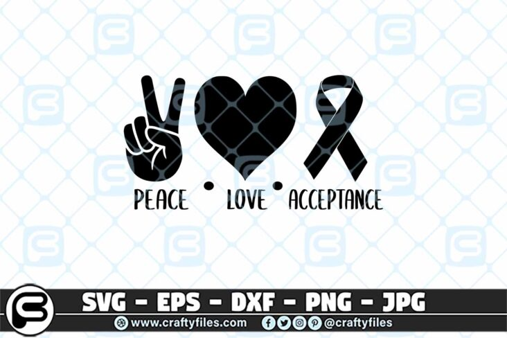 229 Peace love acceptance 3 2D Peace Love Acceptance SVG PNG Files