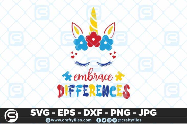 230 Embrace differences 5 4D Unicorn SVG Embrace Differences SVG PNG File