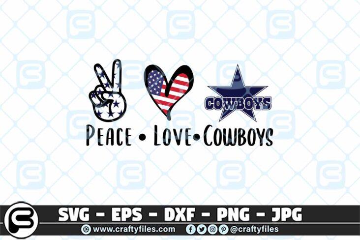 234 Peace Love Cowboys 3 2D Peace Love Cowboy SVG Cut File Cowboy PNG