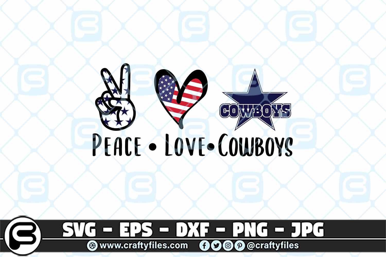 Download Peace Love Cowboy SVG Cut File Cowboy PNG | Crafty Files
