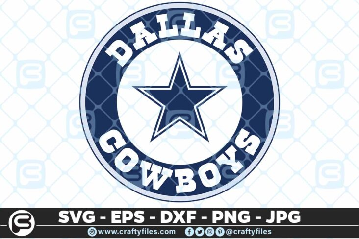 236 Dallas cowbos cercle star 3 2D Dallas Cowboys SVG Star Cowboy PNG Files