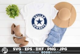 236 Dallas cowbos cercle star 3 2T Dallas Cowboys SVG Star Cowboy PNG Files