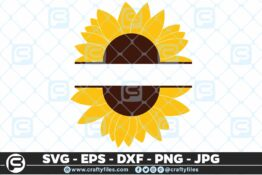 245 Sunflower Monogram 3 2D Bundle of Sunflower SVG Craft Design Floral SVG