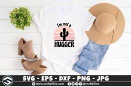 251 I am not a hugger cactus vintage sunset 3 2TW I am Not a Hugger Cactus Vintage Sunset SVG