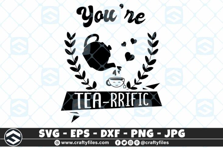 252 You are my tearrific heart tea lover 3 2D You are My Tea-rrific Jug Tea Lover SVG