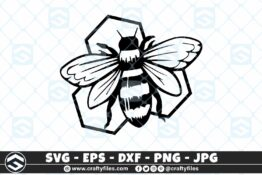 256 Bee Honey bee happy 3 2D Craft Designs