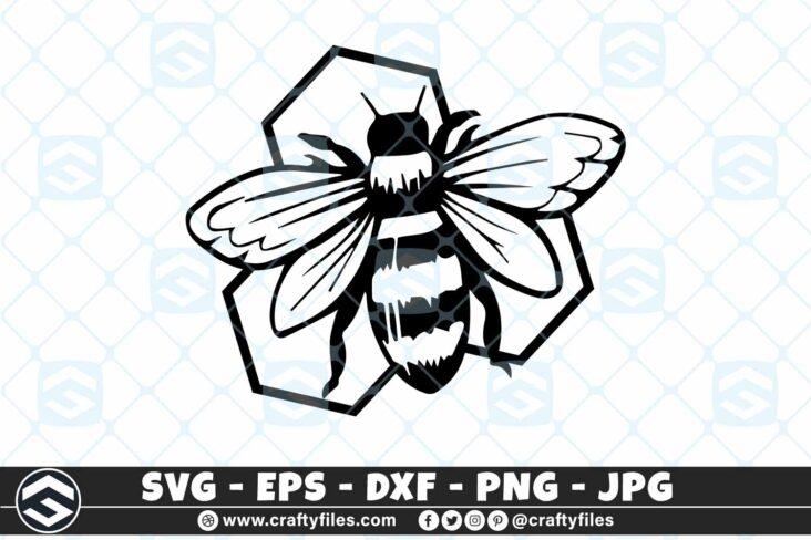 256 Bee Honey bee happy 3 2D Bee SVG Honey Bee Happy SVG Insects DXF