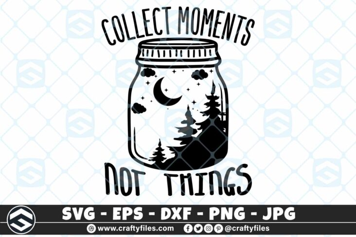 259 Dream bottle Collect Moment not things Forest moon strars 3 2D Outdoor SVG Collect Moment SVG Not Things DXF