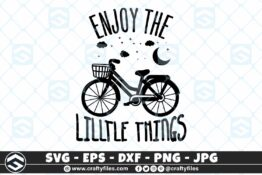 261 Dream bike bicycle enjoy the little things moon strars 3 2D Craft Designs