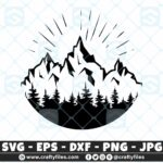 Moutains And Trees Adventure Camping SVG Outdoor