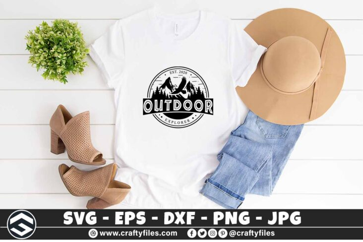 274 Outdoor adventure mountain and trees eagle logo rounded 3 2TW Outdoor SVG Adventure Mountain And Trees Eagle
