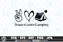 275 Peace love camping outdoor camping adventure 3 2D Craft Designs