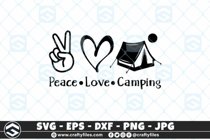 275 Peace love camping outdoor camping adventure 3 2D Peace Love Camping SVG Outdoor Adventure