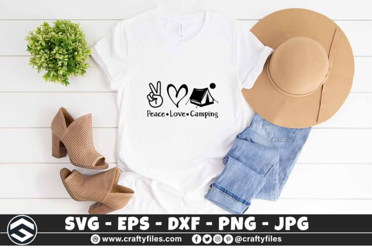 275 Peace love camping outdoor camping adventure 3 2TW Peace Love Camping SVG Outdoor Adventure