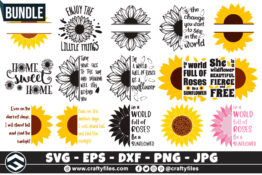 277- Sunflower svg -bundles33