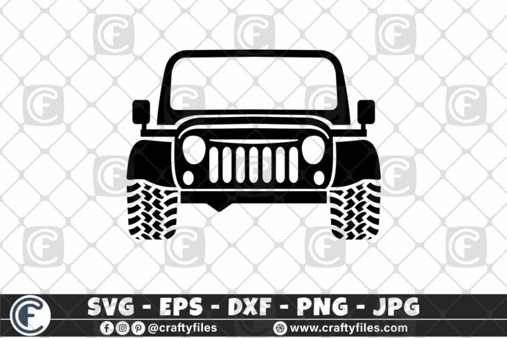 287 Classic Jeep Car 3 2D Jeep Car SVG Dirty Jeep Girl Car SVG Outdoor SVG PNG Mountain SVG DXF