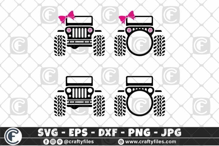 293 bundle of Jeep car for girls 01 3 2D Bundle of Jeep SVG For Girls SVG Jeep Car SVG Outdoor SVG PNG Mountain