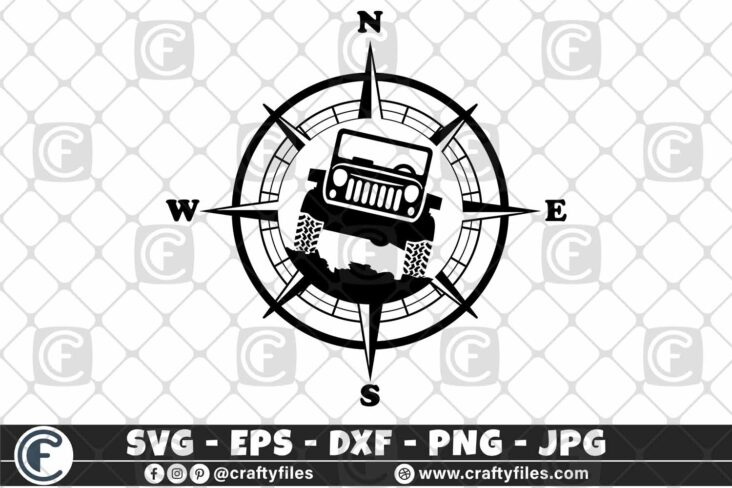 295 Compass Jeep Car outdoor 3 2D Jeep SVG Jeep Life SVG Jeep Car SVG Outdoor SVG Compass SVG