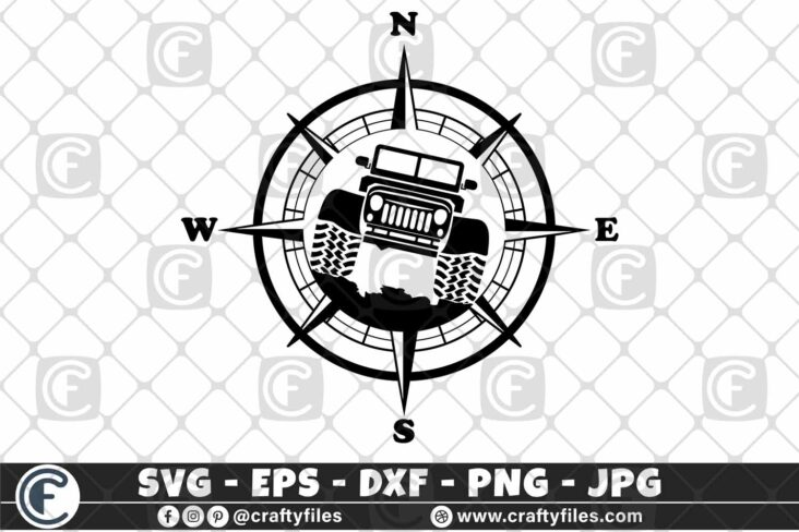 296 Compass Jeep Car outdoor 3 2D Jeep SVG Jeep Life SVG Jeep Car SVG Outdoor SVG Compass SVG