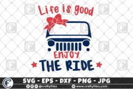 298 Colorful Jeep Car jeep Girl Life is goog enjoy the ride 3 2D Crafty Files | Home