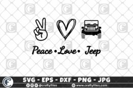 299 Peace Love Jeep Car for outdoor dirty car 3 2D Crafty Files   Home
