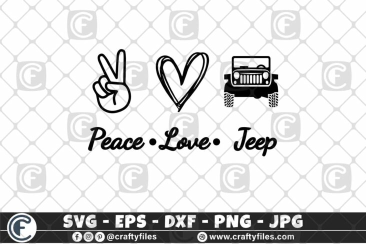 299 Peace Love Jeep Car for outdoor dirty car 3 2D Peace Love Jeep SVG Jeep Life SVG Mountain SVG Outdoor SVG