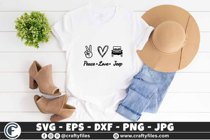 299 Peace Love Jeep Car for outdoor dirty car 3 2T Peace Love Jeep SVG Jeep Life SVG Mountain SVG Outdoor SVG