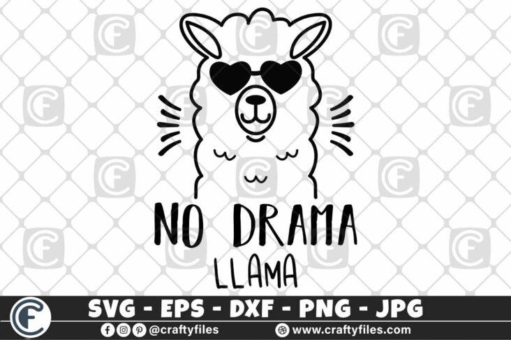 305 Mama llama no drama llama sunglasses 3 2D Mama Llama SVG Na Drama Llama SVG PNG DXF Cute Llama SVG with Sun Glasses SVG