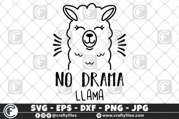 306 Mama llama no drama llama sunglasses 3 2D Mama Llama SVG Na Drama Llama SVG PNG DXF Cute Llama SVG