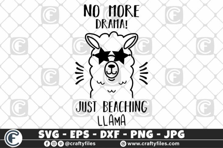 309 Mama llama no more drama just beaching llama sunglasses 3 2D Mama Llama SVG No More Drama SVG PNG DXF Just Beaching Llama SVG With Sunglasses SVG