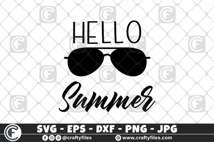 311 Summer Hello Summer 3 2D Hello Summer SVG Beach time EPS PNG Beaching time SVG Sun Glasses SVG