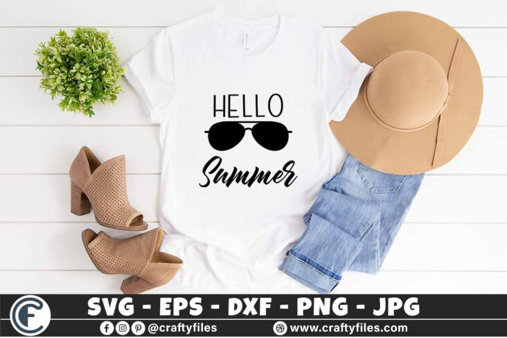 311 Summer Hello Summer 3 2T Hello Summer SVG Beach time EPS PNG Beaching time SVG Sun Glasses SVG